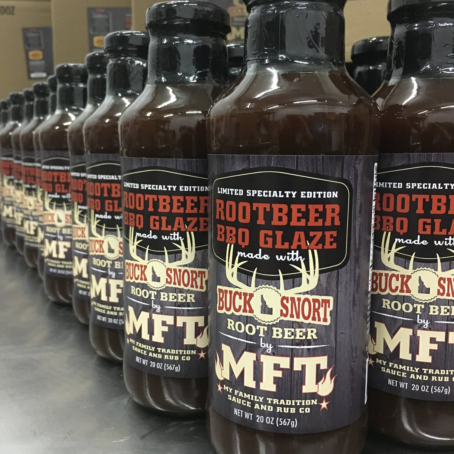 Image of 20oz Bottle of Root Beer BBQ Sauce