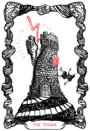"Image of The Tarot of The Tower, 11""x17"""