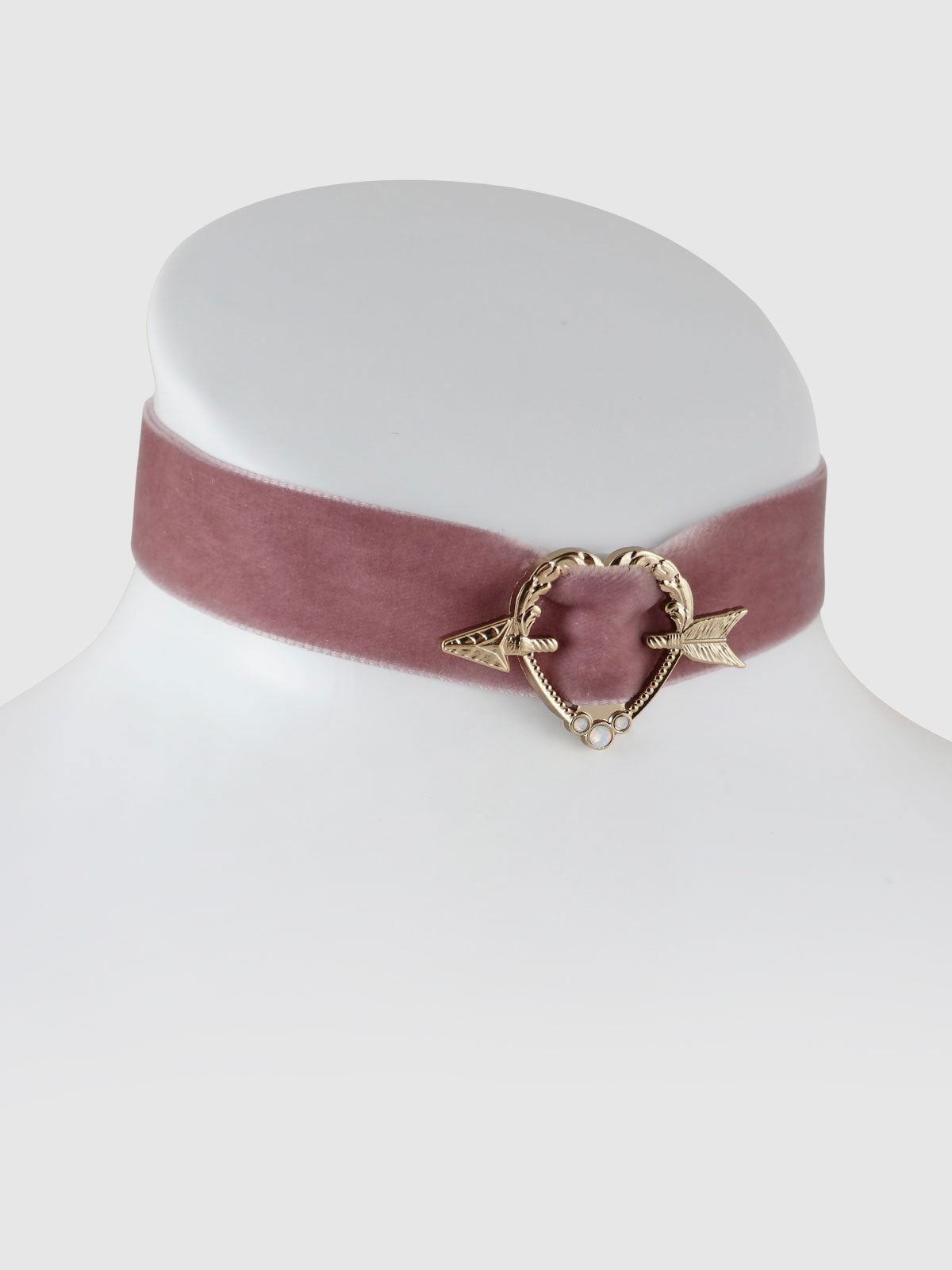 Image of Sweet Heart Choker • Dusty Rose