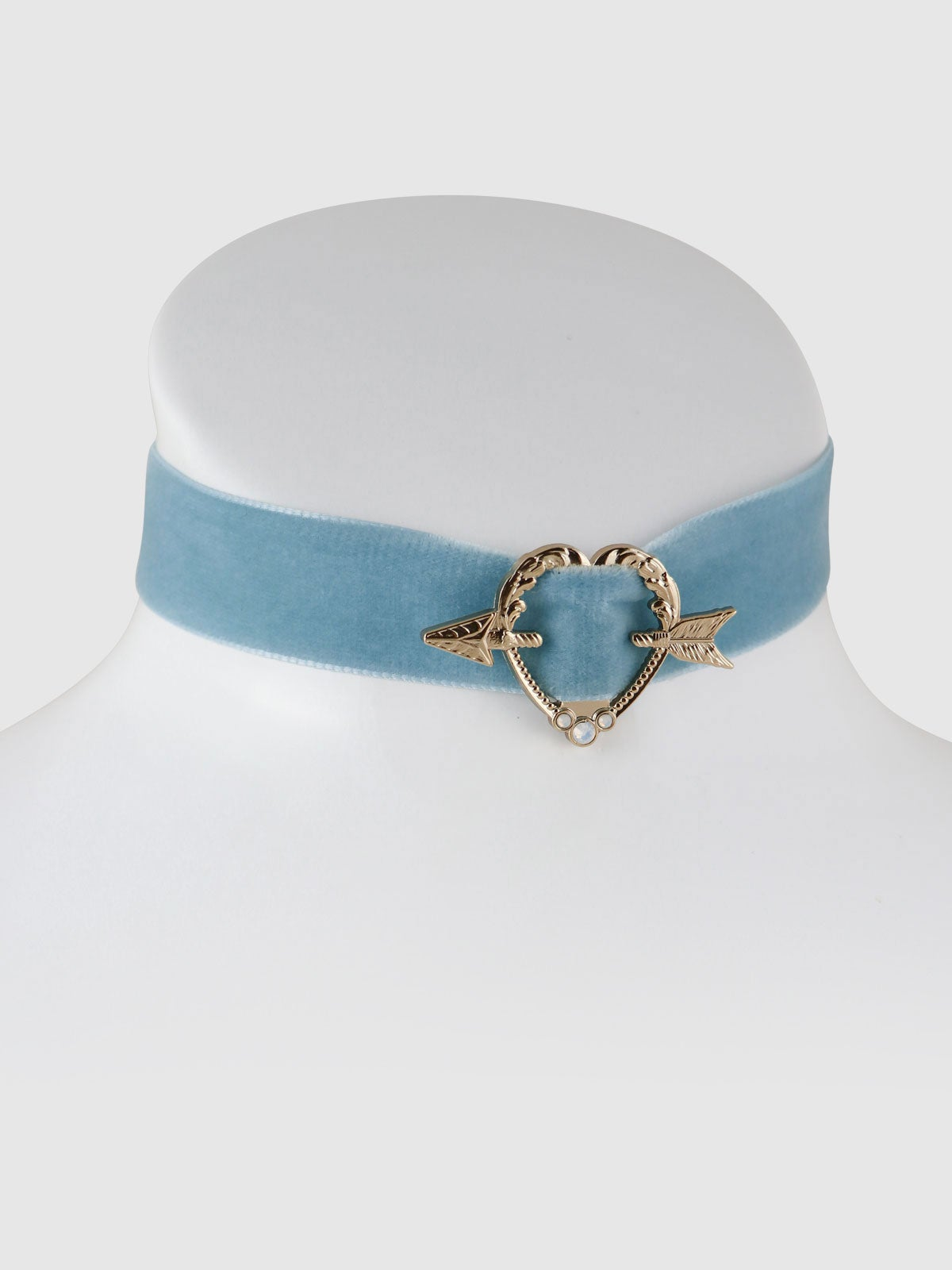 Image of Sweet Heart Choker • Powder Blue