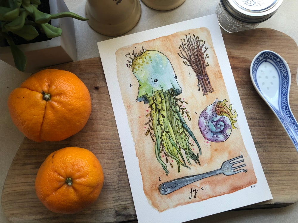 Image of Tidebeast Print - Schloopy Leaf Jelly