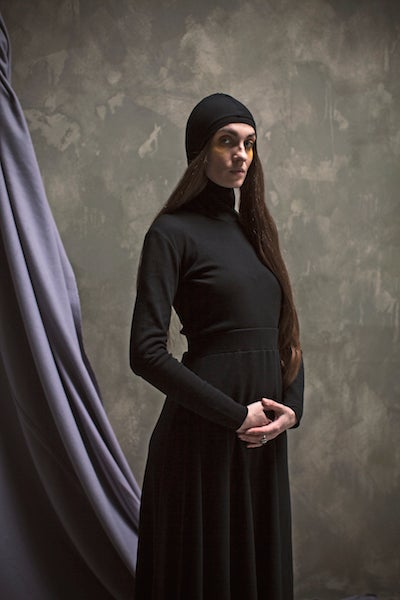 Image of CEREMONY: COIF LONG-SLEEVED TOP