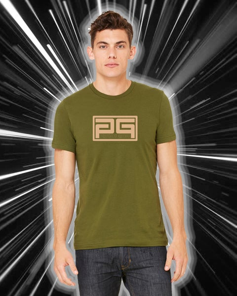 Image of PGroove Logo Tee - Olive/Cream