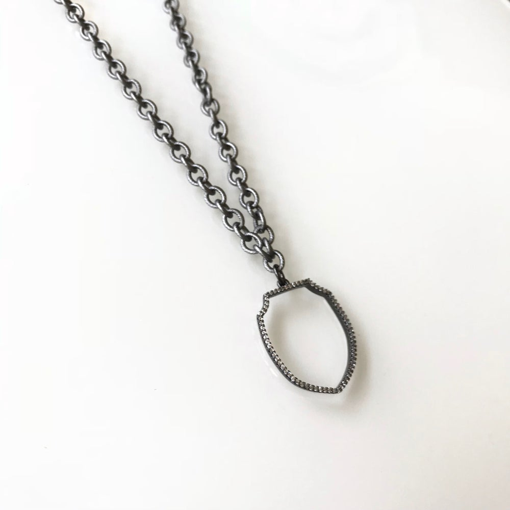 Image of Open Shield Necklace