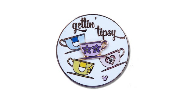 Image of Tipsy Teacup Ride Spinning Pin