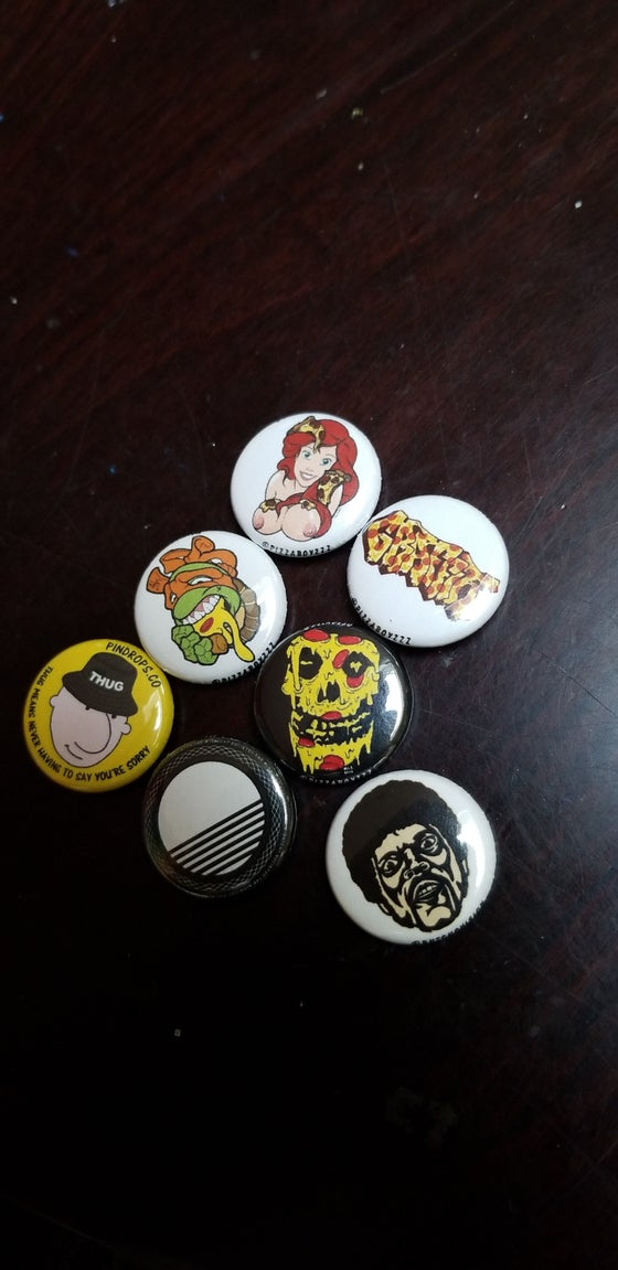 Image of Limited edition pack #6 of 24 half dozen button set + bonus button (March 15-31 series)