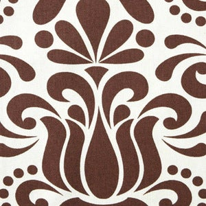 Image of Chocolate Grand Jubilee Organic Cotton Fabric