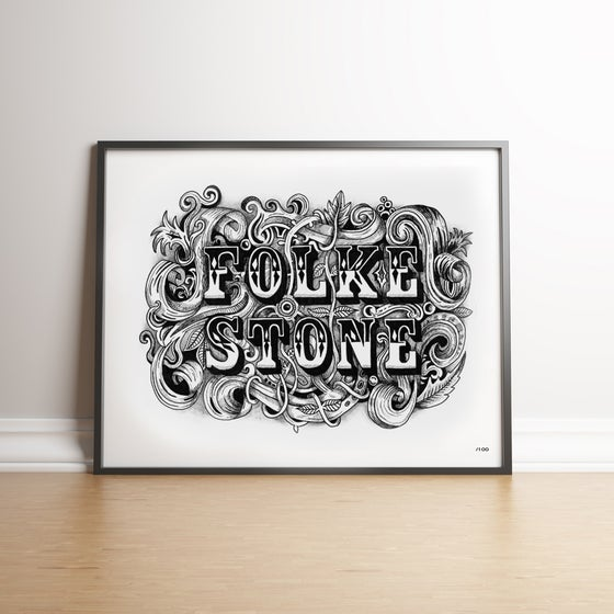 Image of Vintage Folkestone - Limited Edition Hand Signed Print