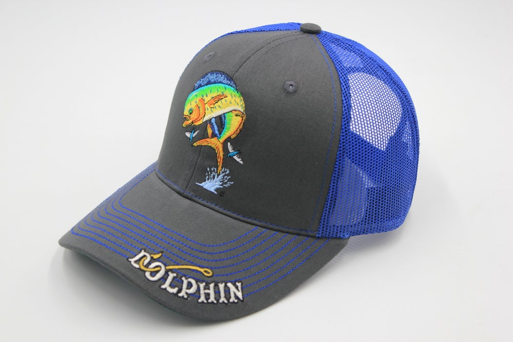 Image of Just Hook 'Em Dolphin Trucker Cap