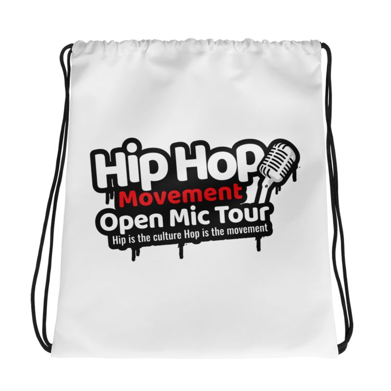 Image of Hip Hop Movement Open Mic Tour DRAWSTRING BAG (15X17)