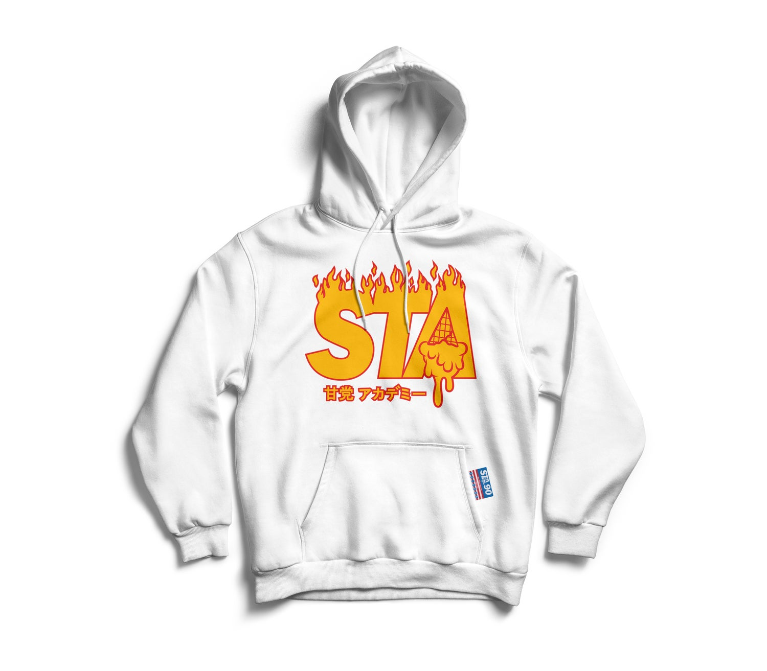 Image of STA Flame James Hoody White (Limited)