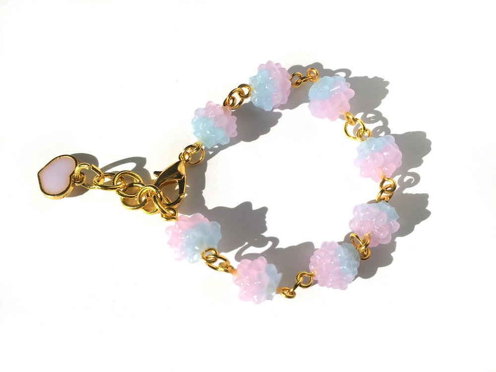 Image of Cotton Candy Konpeito Bracelet Blue Top
