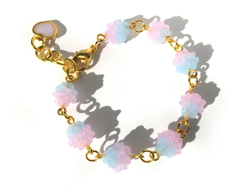 Image of Cotton Candy Konpeito Bracelet Pink Top