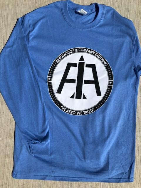 Image of Carolina Blue Aeronotiqz L/S Tee