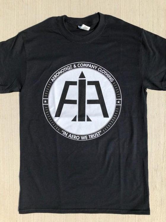 Image of Black Aero Logo Tee