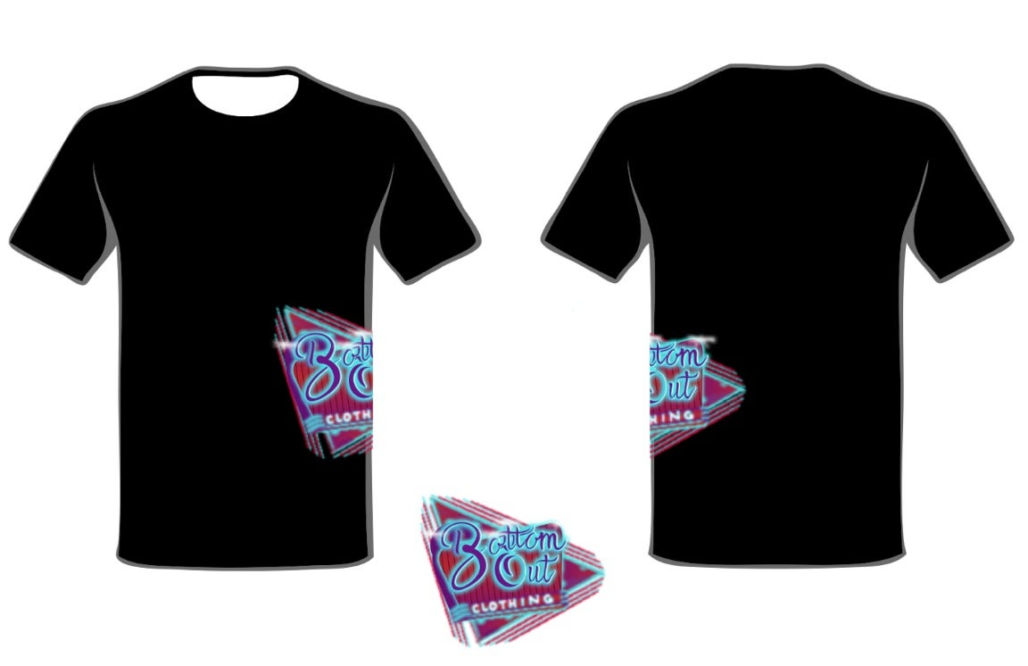 Image of Retro Logo Side Design TShirt