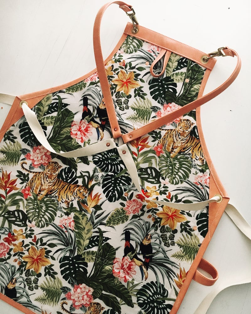 Image of Peach Vegan Leather Apron