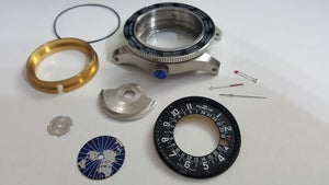 Image of FORTIS B-47 WORLD TIMER GMT CASE KIT,NEW,( REF# D )