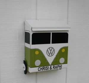 Image of Eden Green Split Window VW Bus Mailbox by TheBusBox - Choose your color