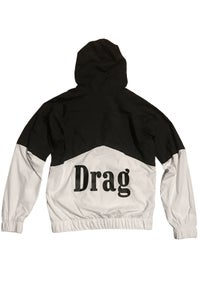 Image of DRAG - PIT CREW SPRAY JACKET <br> BLACK/WHITE