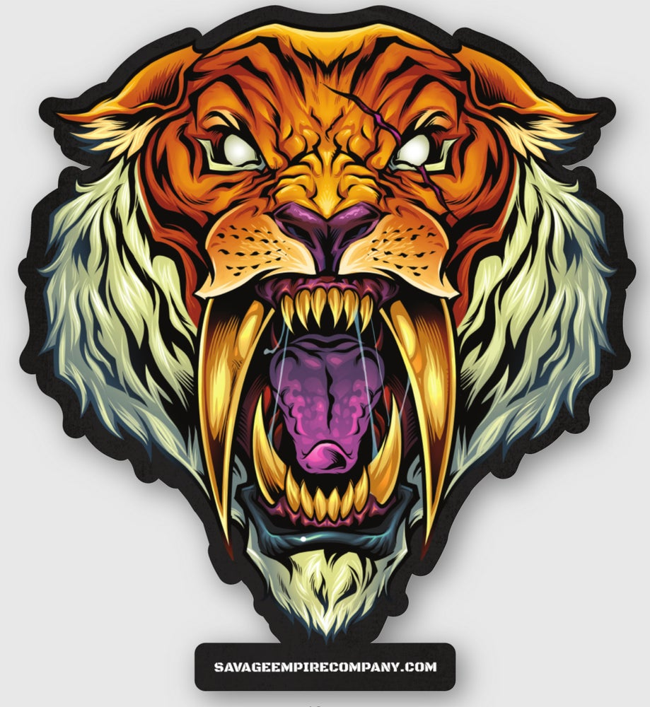 Image of SAVAGE SABERTOOTH STICKERS