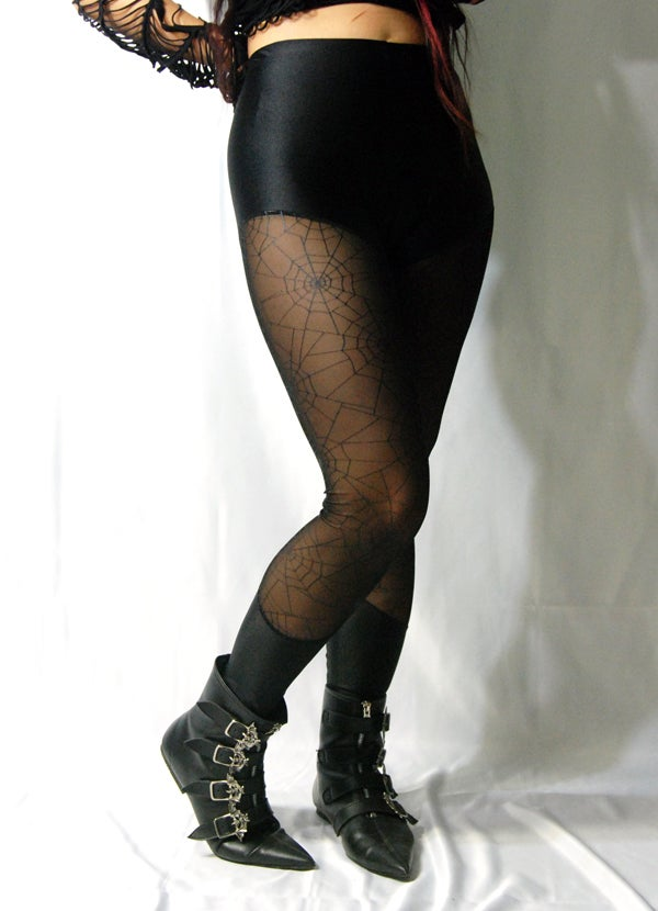 Image of Mesh SpiderWeb Leggings