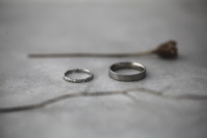 Image of *NEW* Palladium 4mm Flat Court 'matte' ring