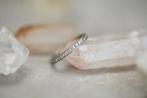 Image of platinum & rose-cut full eternity 'ad infinitum' ring