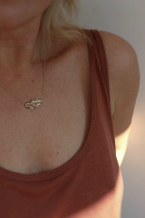 Image of oak leaf necklace (in silver or 9ct gold)