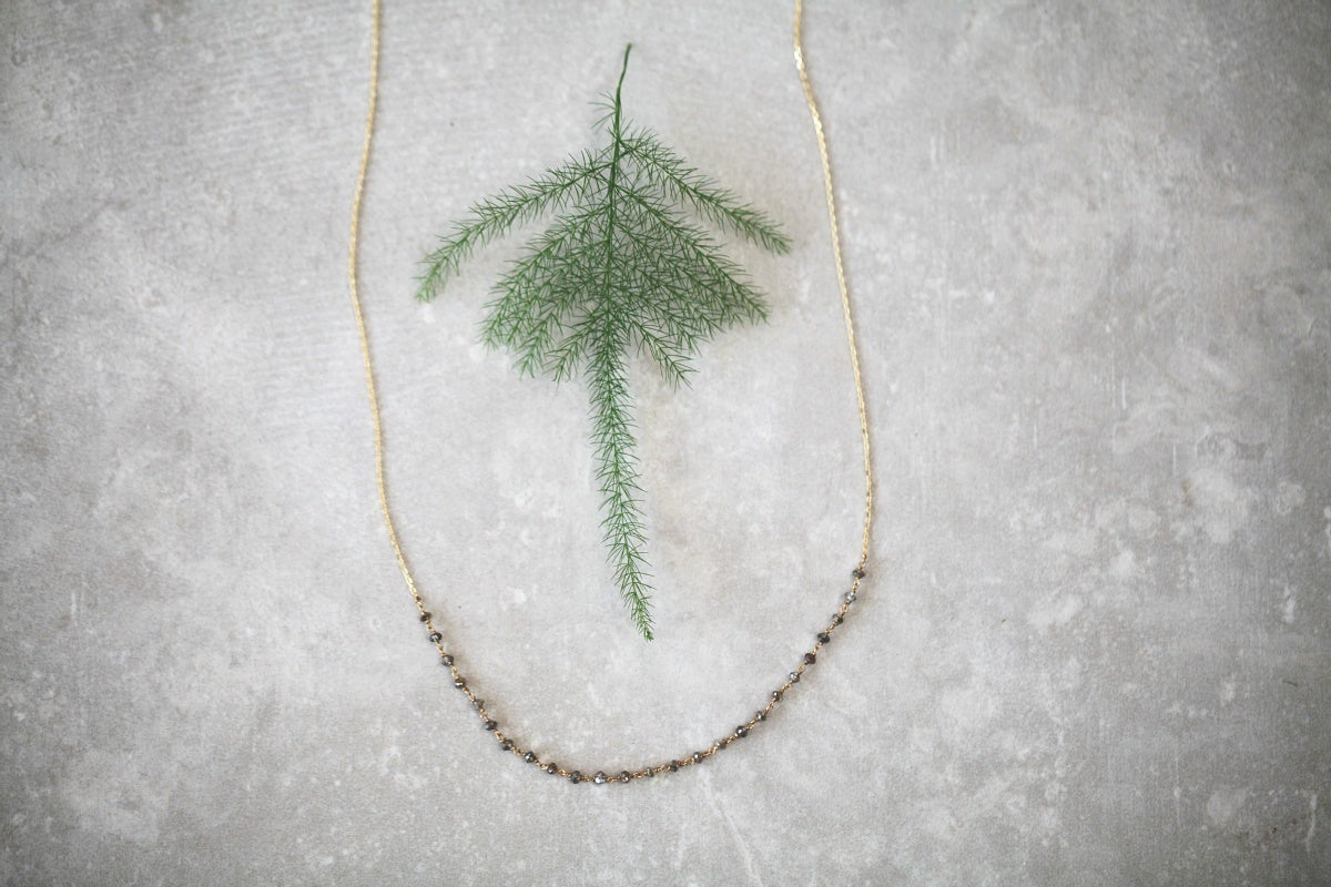 Image of *NEW Limited edition* delicate natural cut diamond briolette necklace
