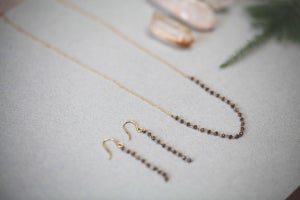 Image of *NEW Limited edition* delicate natural cut diamond briolette earrings