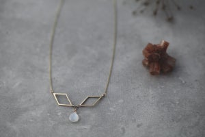 Image of Rhombus & moonstone necklace