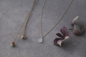Image of *NEW* 9ct gold teardrop Moonstone necklace