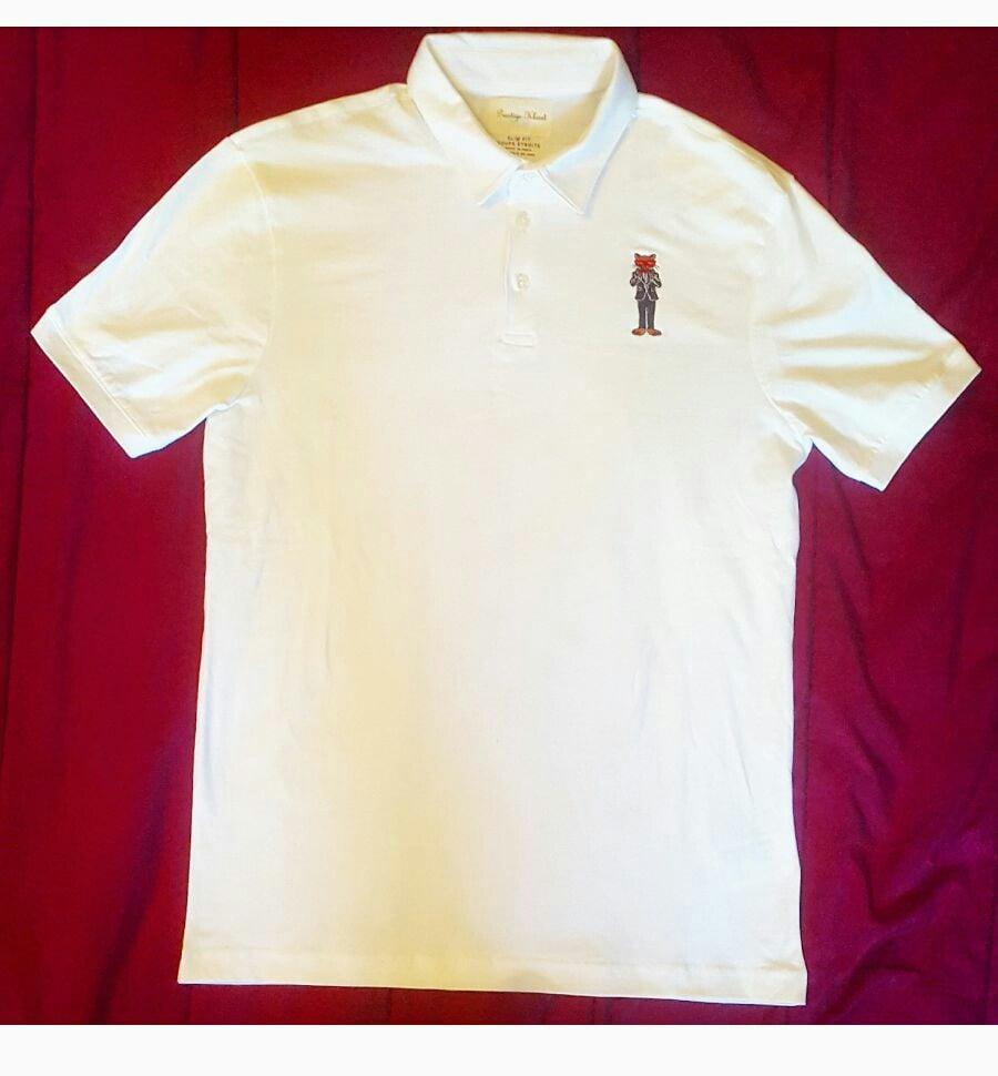 Image of Prestige Kloset Polo Shirt-Nylon (Black/White)