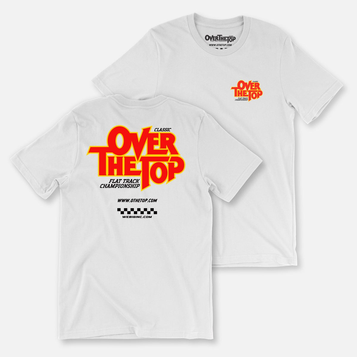 Image of OVER THE TOP FLAT TRACK TEES
