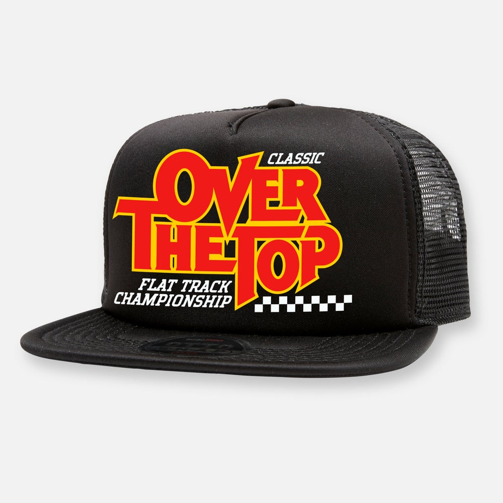 Image of OVER THE TOP FLAT TRACK HAT
