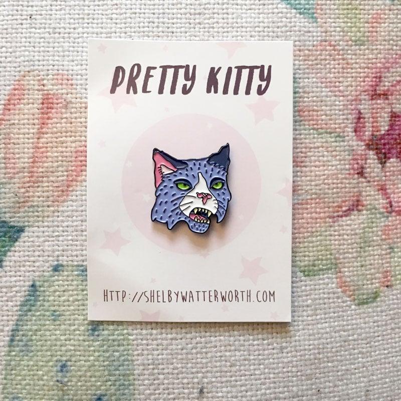 Image of Pretty Kitty Enamel Pin