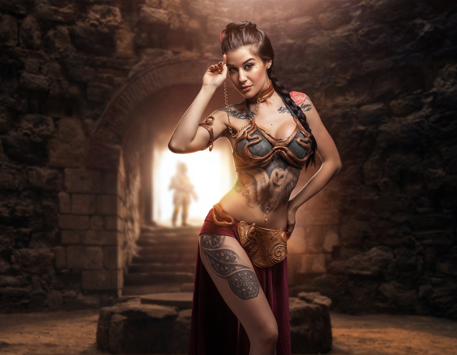 Image of SIGNED SLAVE LEIA POSTER