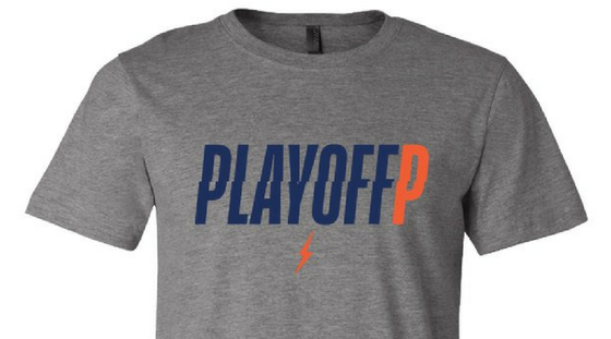 Image of Playoff P Grey T-Shirt