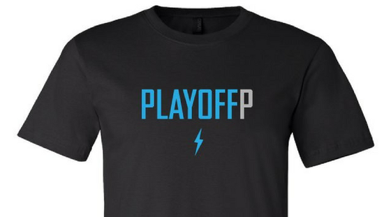 Image of Playoff P Black T-Shirt