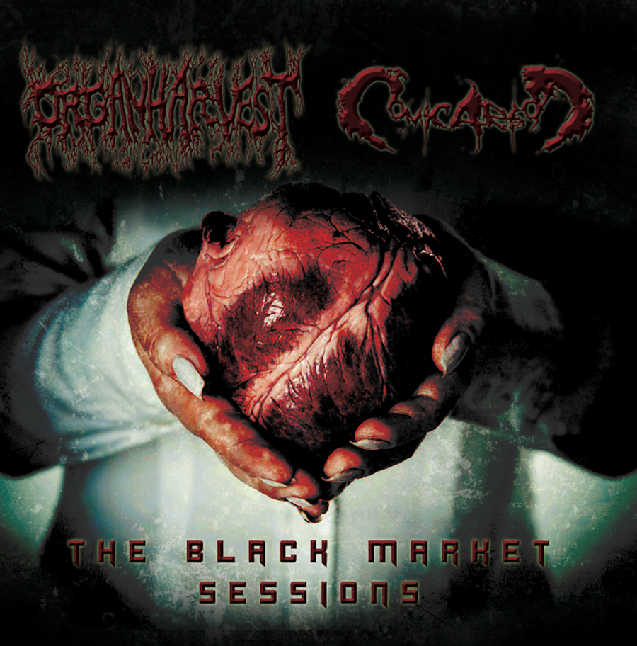 Image of OrganHarvest / Comic Arson - The Black Market Sessions (Split CD)