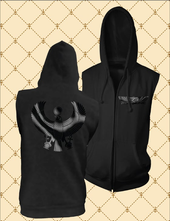Image of Black HRU Sleeveless Hoodie