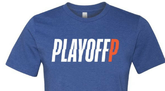 Image of Playoff P Blue T-Shirt