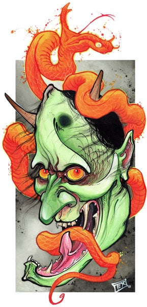 Image of Green Hannya