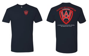 Image of American Warrior Concert 2018 T Shirt (Navy Blue)