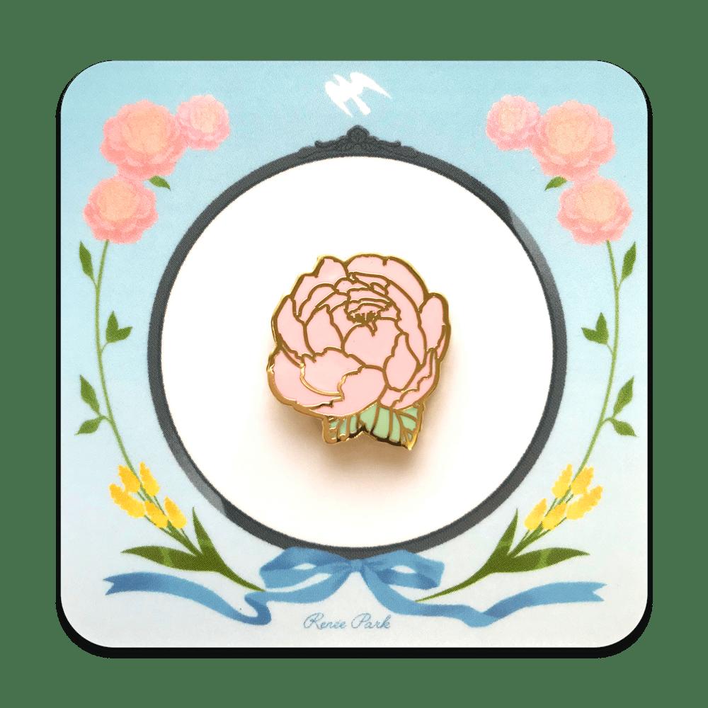 Image of Flower Gold Enamel Pin