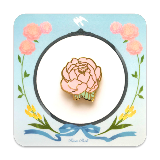 Image of Flower Gold Enamel Pin
