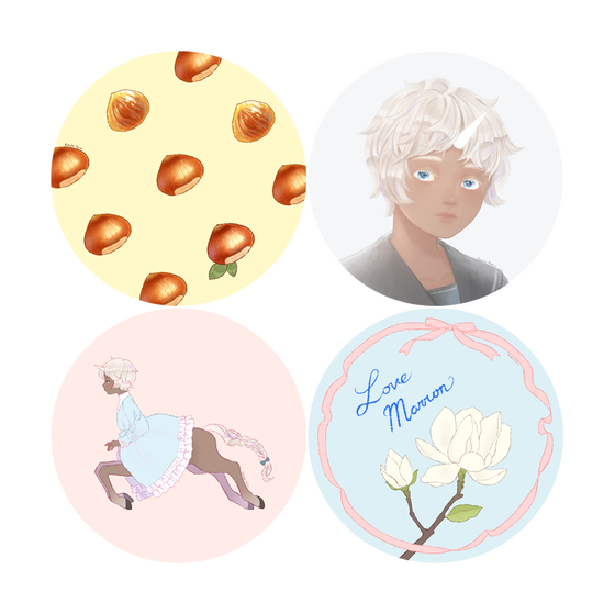 Image of Round Sticker Set of 4
