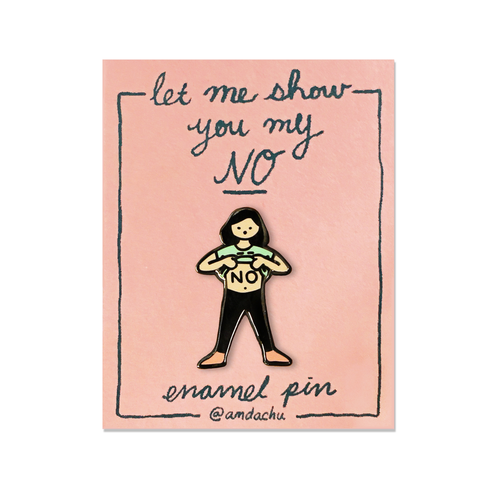 Image of No Girl Enamel Pin