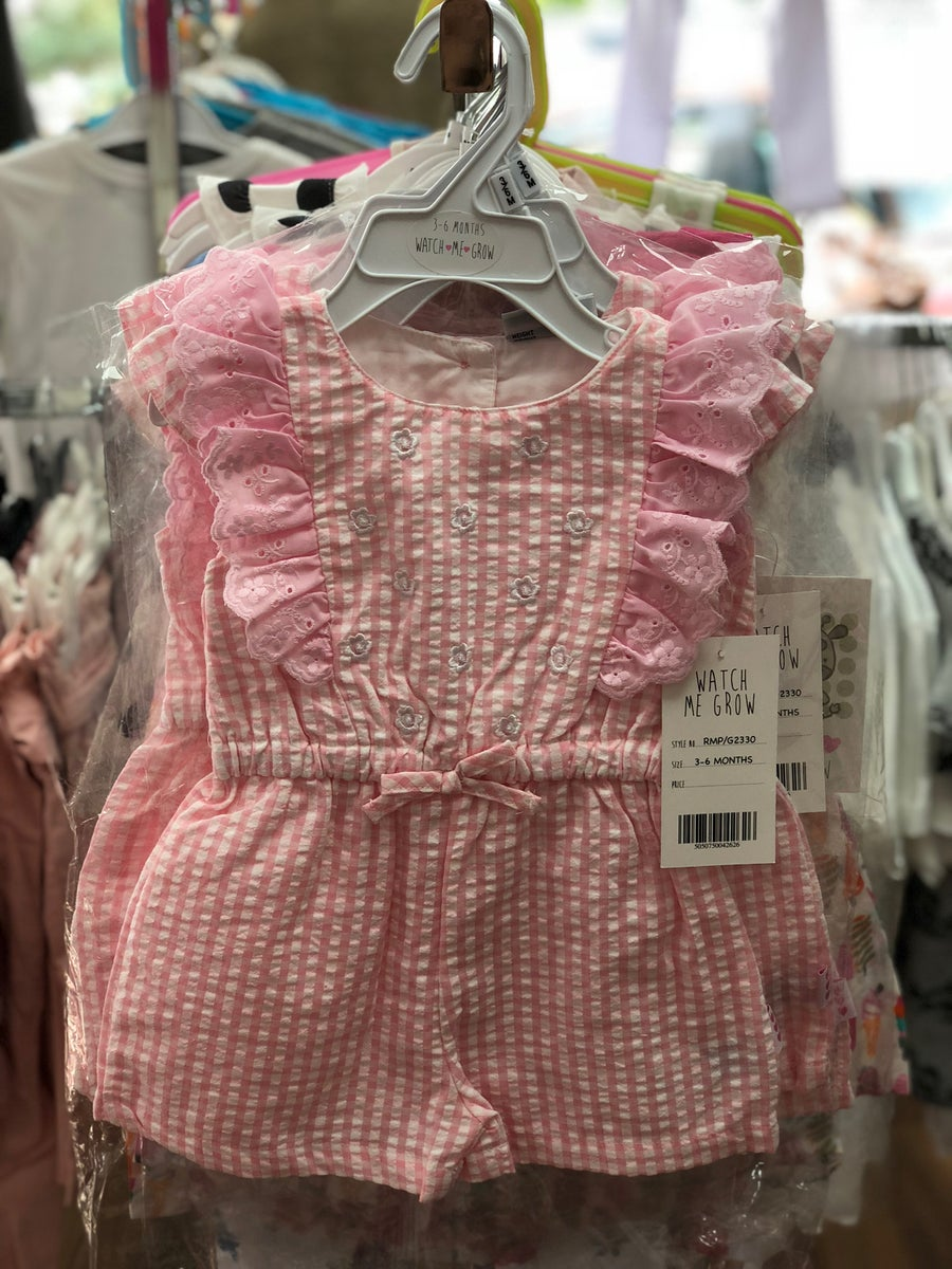 Image of Pink gingham romper